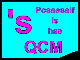 QCM : Possessif, is ou has
