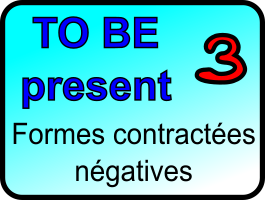 Le verbe to be dans sa forme contractée négative au présent